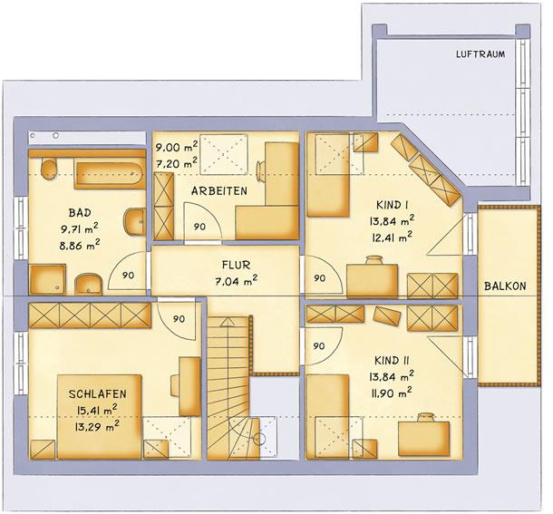 Dachgeschoss VarioFamly 154 von VarioSelf Lizenzgesellschaft mbH