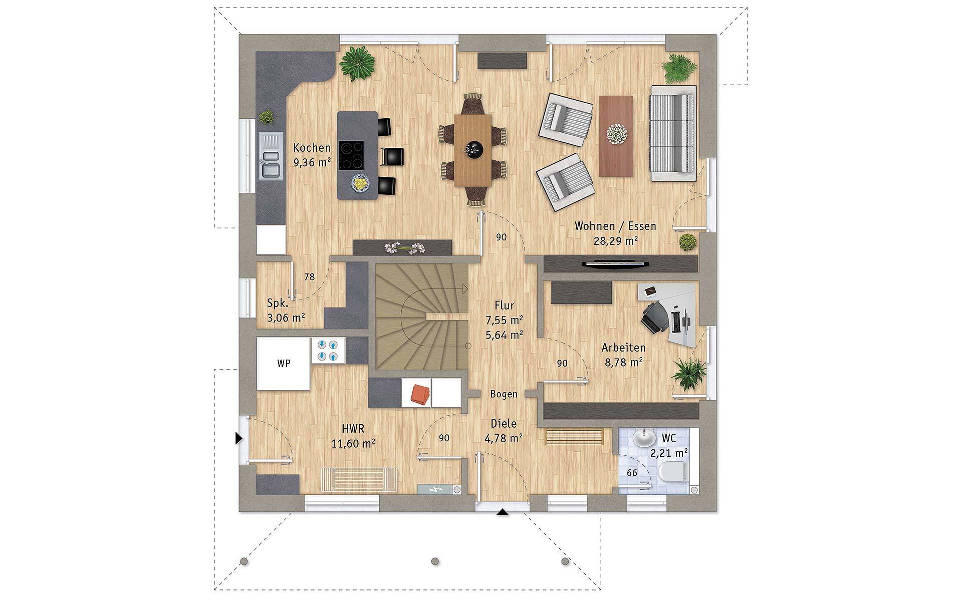 Erdgeschoss VarioToscana 133 von VarioSelf Lizenzgesellschaft mbH