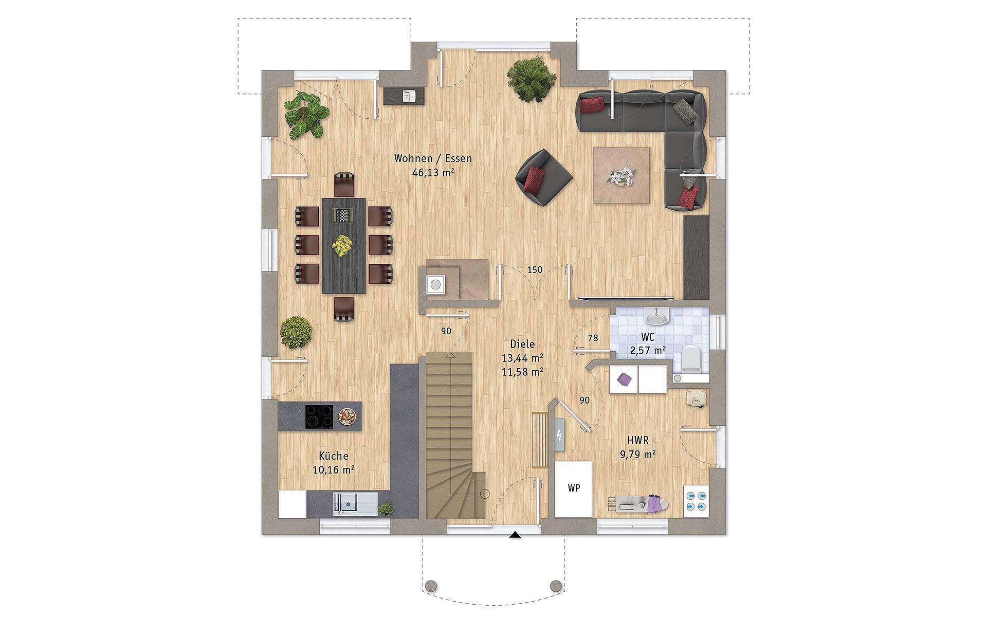 Erdgeschoss VarioCity 172 von VarioSelf Lizenzgesellschaft mbH