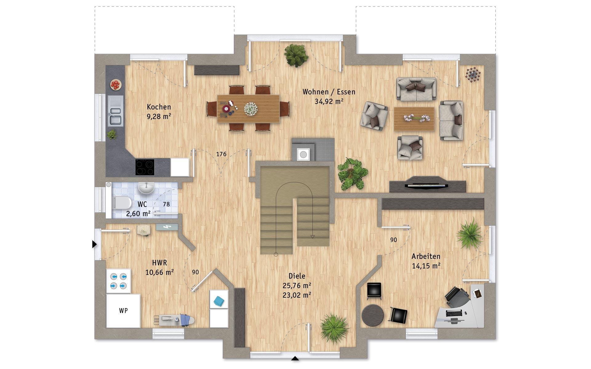 Erdgeschoss VarioCity 202 von VarioSelf Lizenzgesellschaft mbH