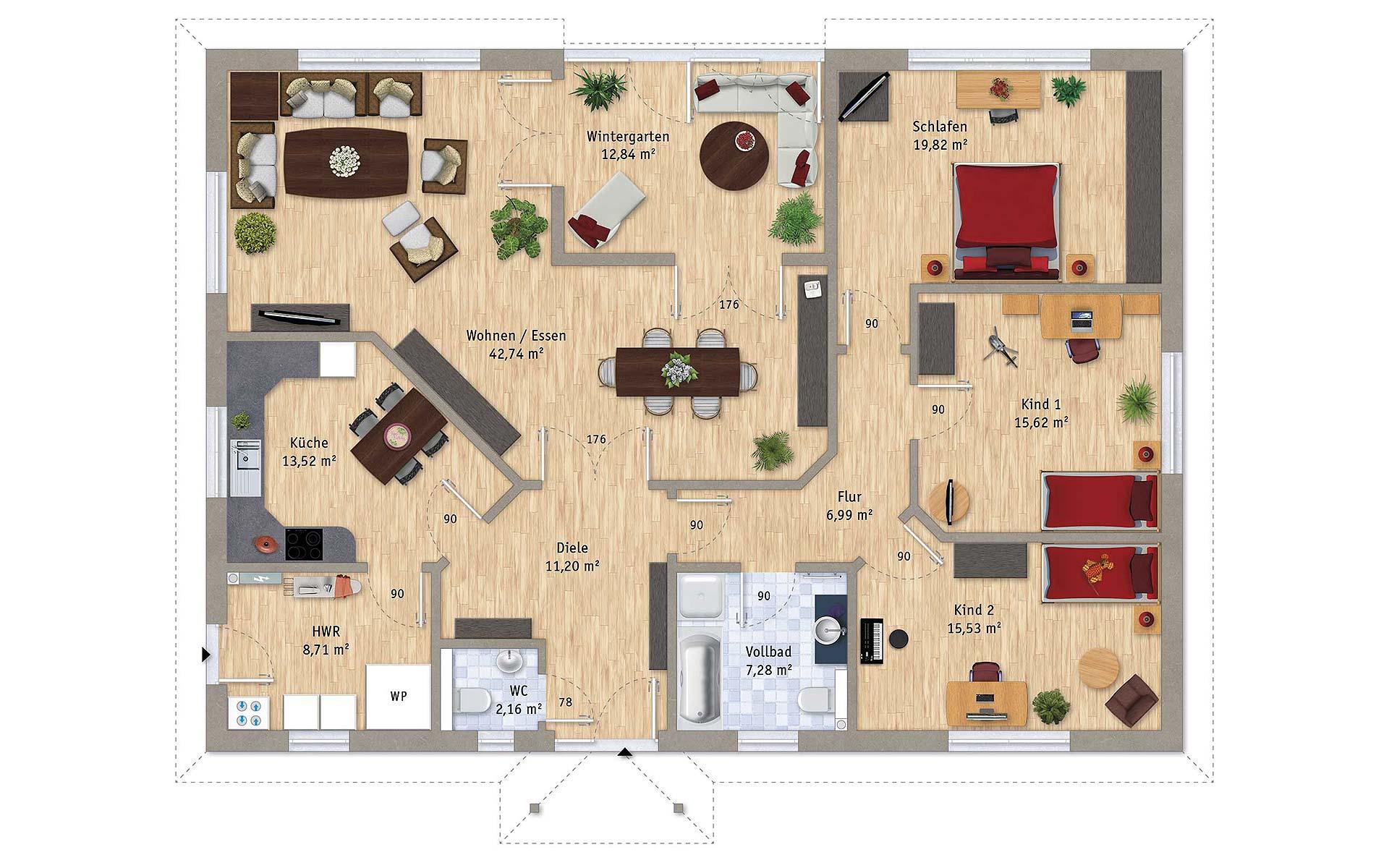 Erdgeschoss VarioCorner 156 von VarioSelf Lizenzgesellschaft mbH