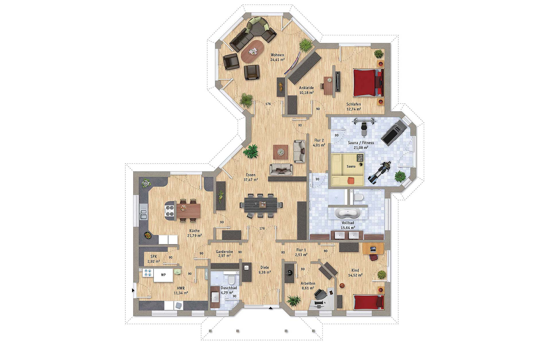 Erdgeschoss VarioCorner 204 von VarioSelf Lizenzgesellschaft mbH