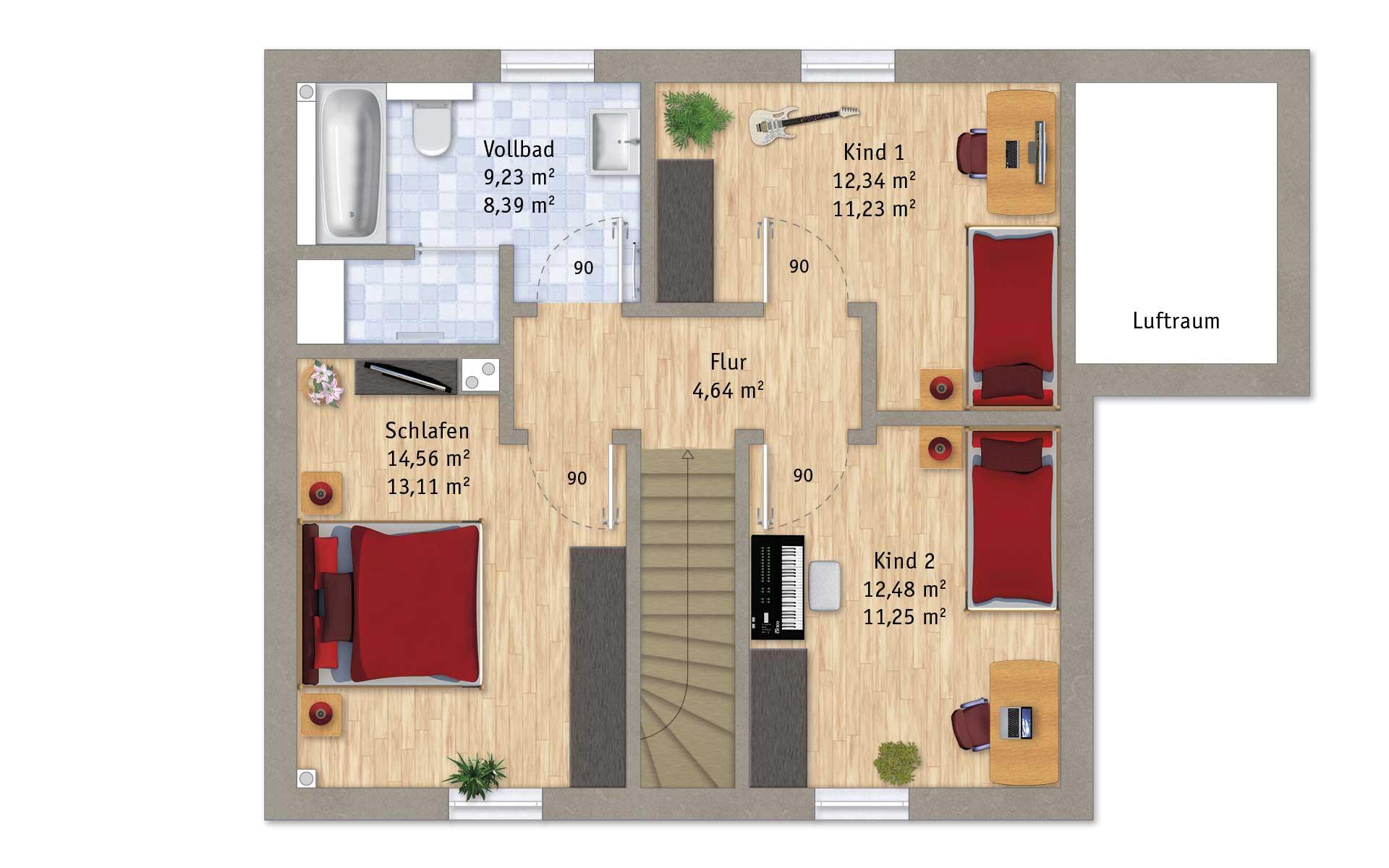 Dachgeschoss VarioFamily 118 von VarioSelf Lizenzgesellschaft mbH