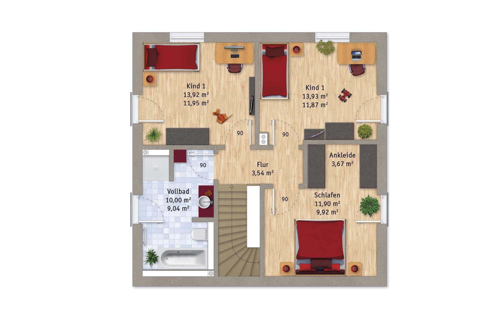 Dachgeschoss VarioFamily 128 von VarioSelf Lizenzgesellschaft mbH