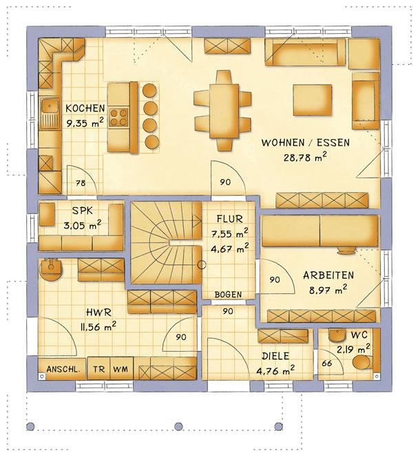 Erdgeschoss VarioToscana 132 von VarioSelf Lizenzgesellschaft mbH