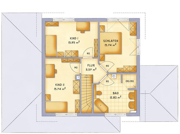 Obergeschoss VarioToscana 154 von VarioSelf Lizenzgesellschaft mbH