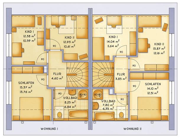Dachgeschoss VarioTwin 114 von VarioSelf Lizenzgesellschaft mbH