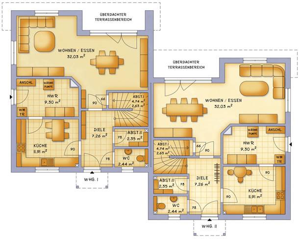 Erdgeschoss VarioTwin 131 von VarioSelf Lizenzgesellschaft mbH