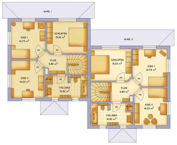 Obergeschoss VarioTwin 131 von VarioSelf Lizenzgesellschaft mbH
