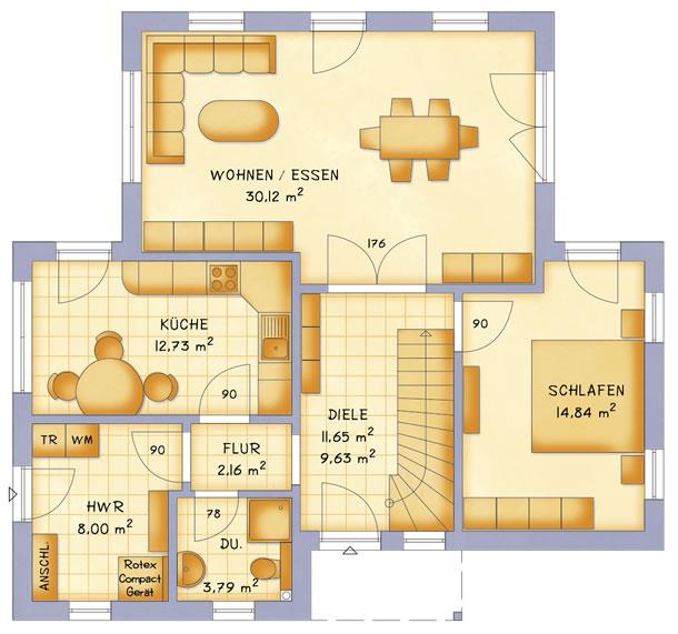 Erdgeschoss VarioVision 129 von VarioSelf Lizenzgesellschaft mbH