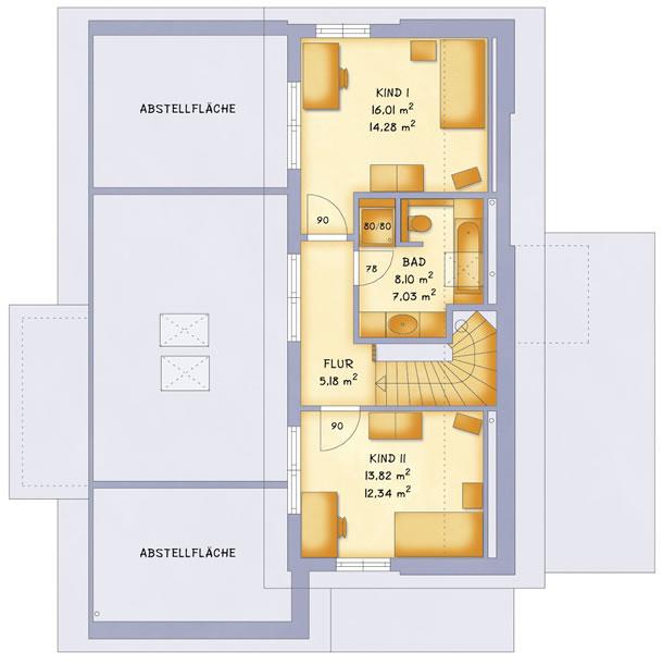 Dachgeschoss VarioVision 156 von VarioSelf Lizenzgesellschaft mbH