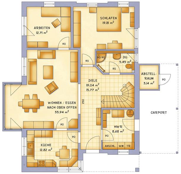 Erdgeschoss VarioVision 156 von VarioSelf Lizenzgesellschaft mbH