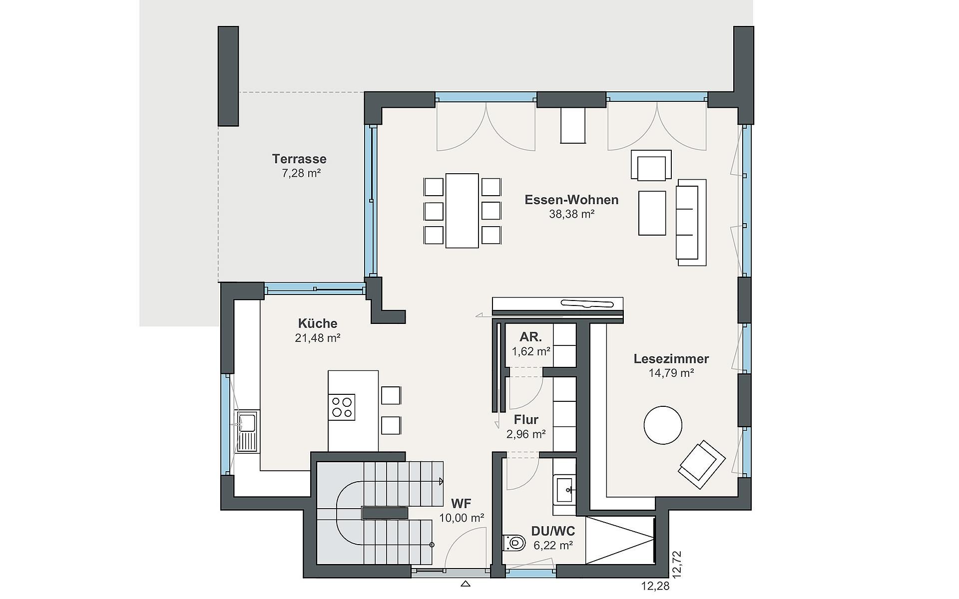 Erdgeschoss Jubiläumshaus (AH Rheinau-Linx) von WeberHaus GmbH & Co. KG