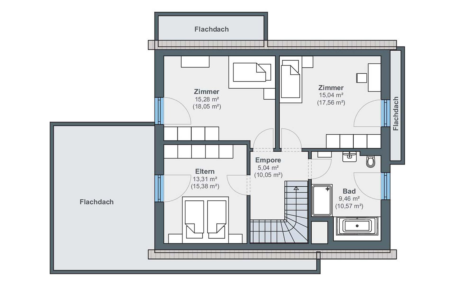 Dachgeschoss Musterhaus Wenden-Hünsborn (generation5.5) von WeberHaus GmbH & Co. KG