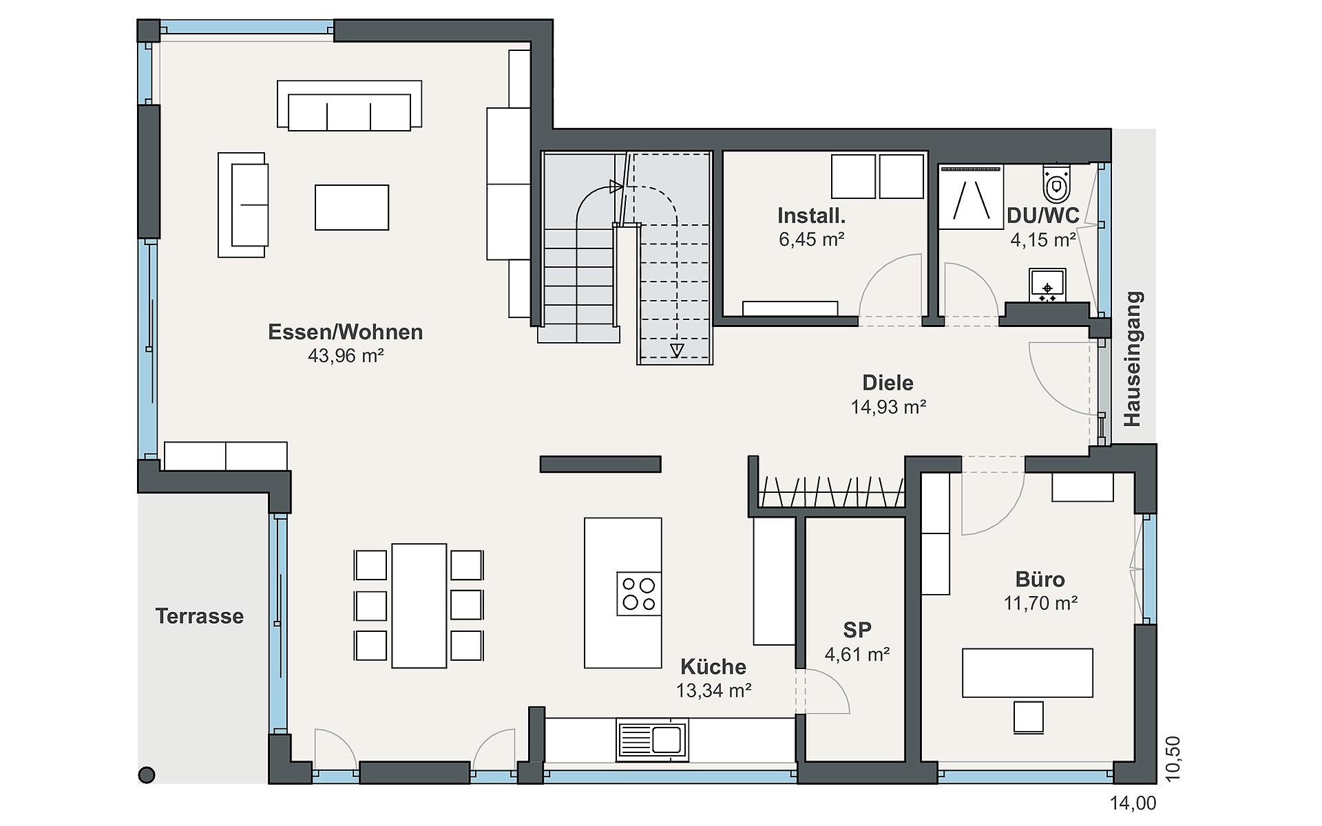 Erdgeschoss Individual (Blum) von WeberHaus GmbH & Co. KG