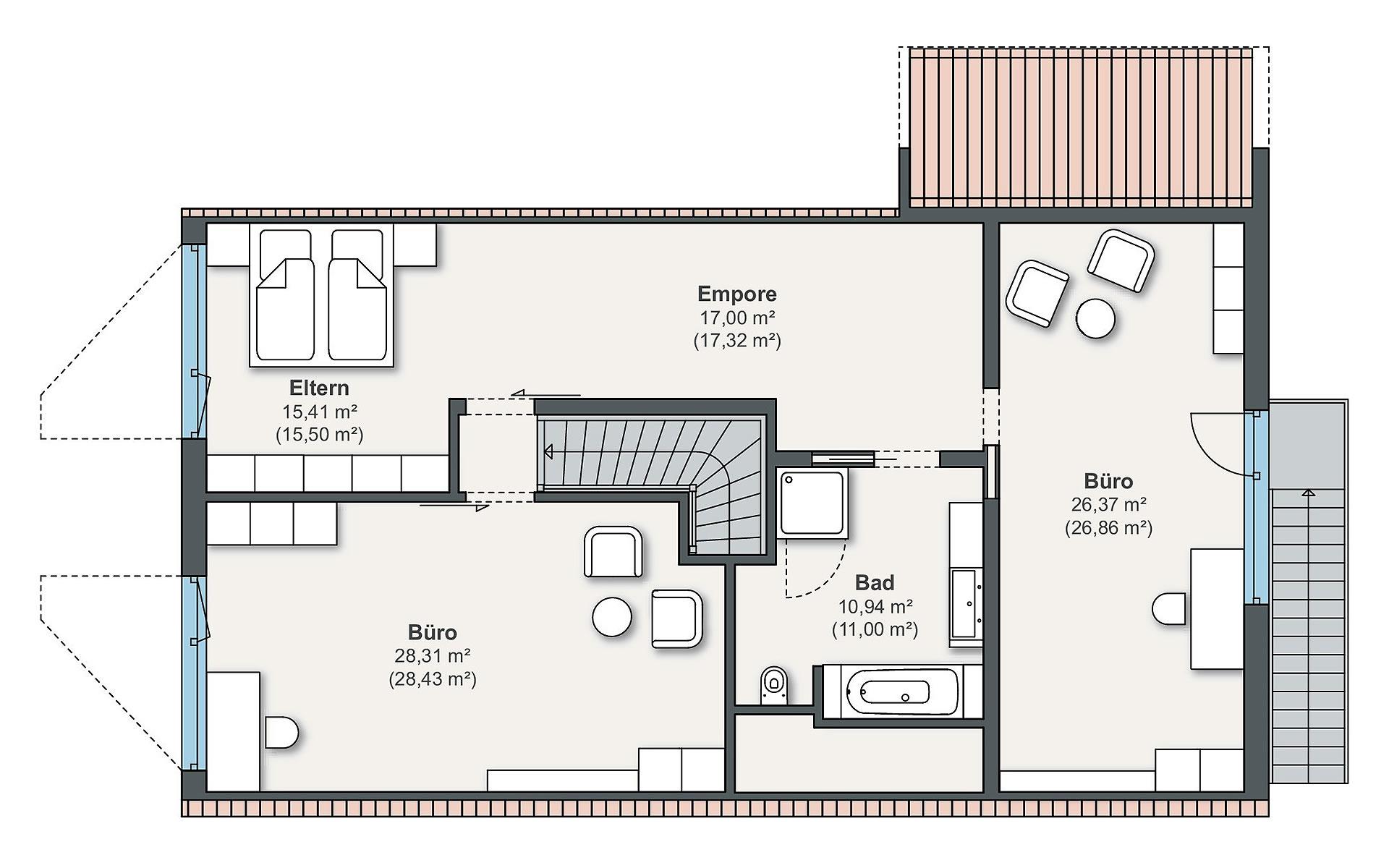 Dachgeschoss Individual (Gazda) von WeberHaus GmbH & Co. KG