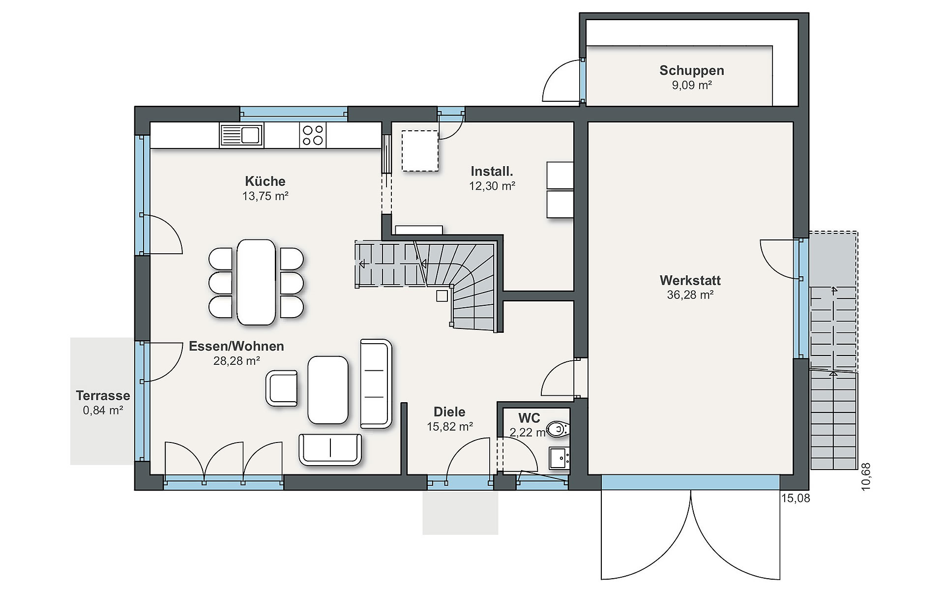 Erdgeschoss Individual (Gazda) von WeberHaus GmbH & Co. KG