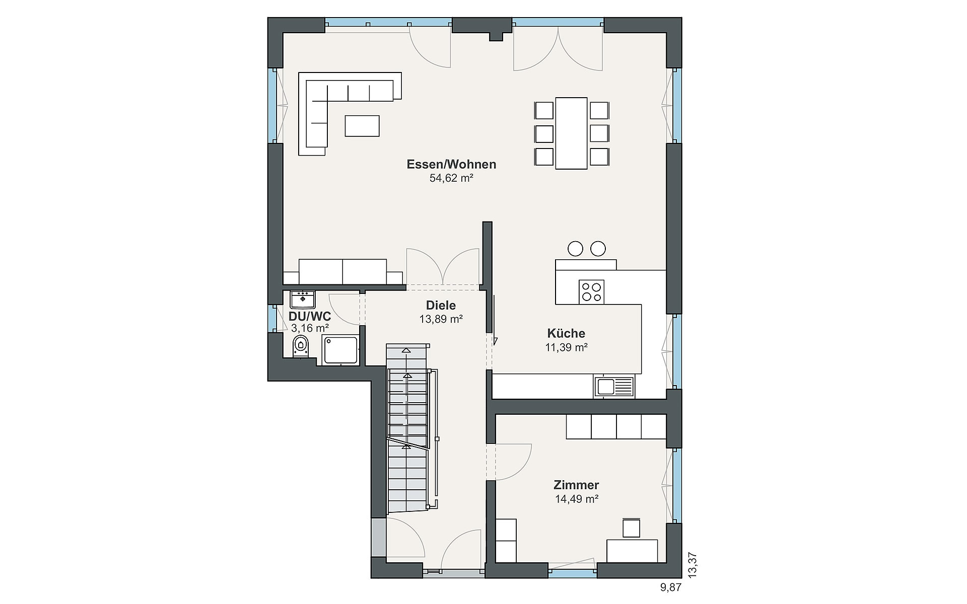 Erdgeschoss Individual (Greve) von WeberHaus GmbH & Co. KG