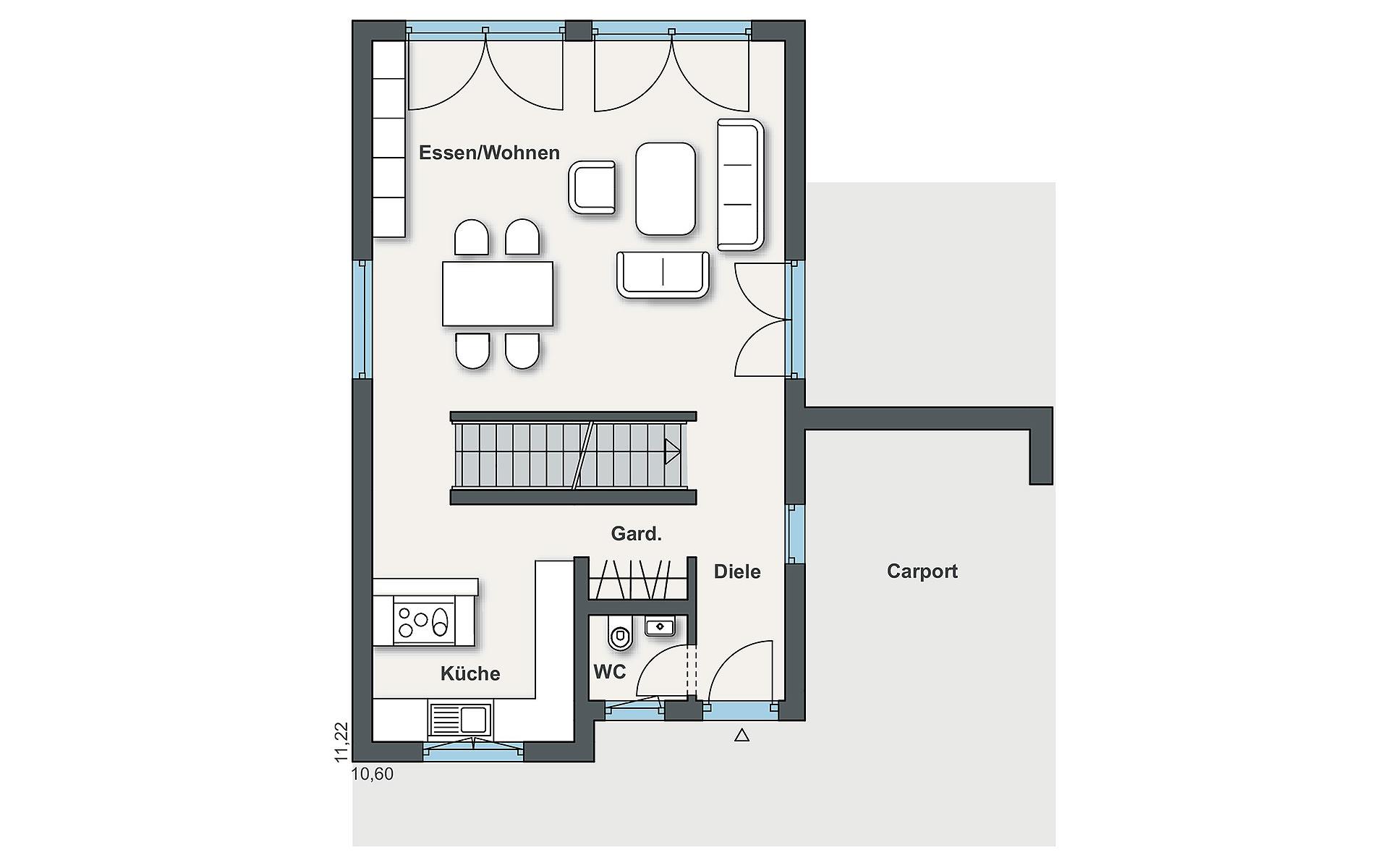 Erdgeschoss Individual (Gregorini) von WeberHaus GmbH & Co. KG