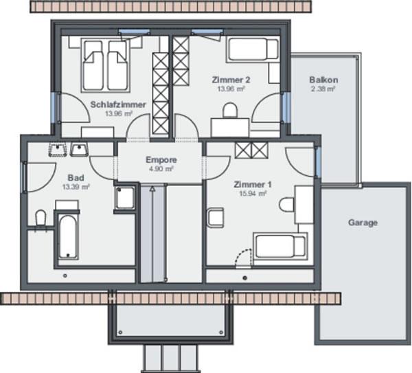 Dachgeschoss Musterhaus Hannover von WeberHaus GmbH & Co. KG