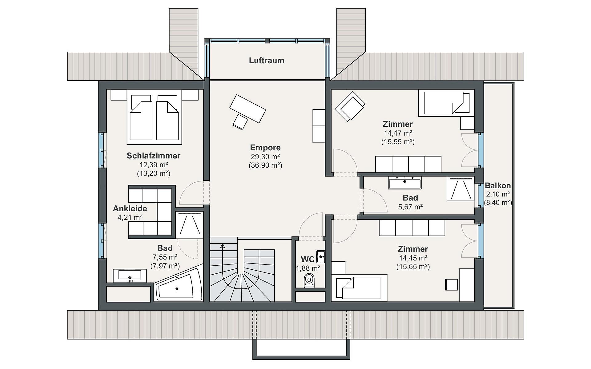 Dachgeschoss Individual (Leclerc) von WeberHaus GmbH & Co. KG