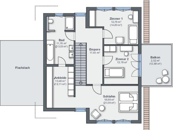 Dachgeschoss Ausstellungshaus Offenburg von WeberHaus GmbH & Co. KG