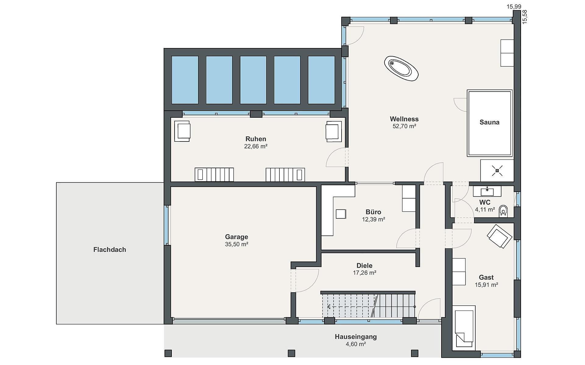 Erdgeschoss Individual (Mercanti) von WeberHaus GmbH & Co. KG