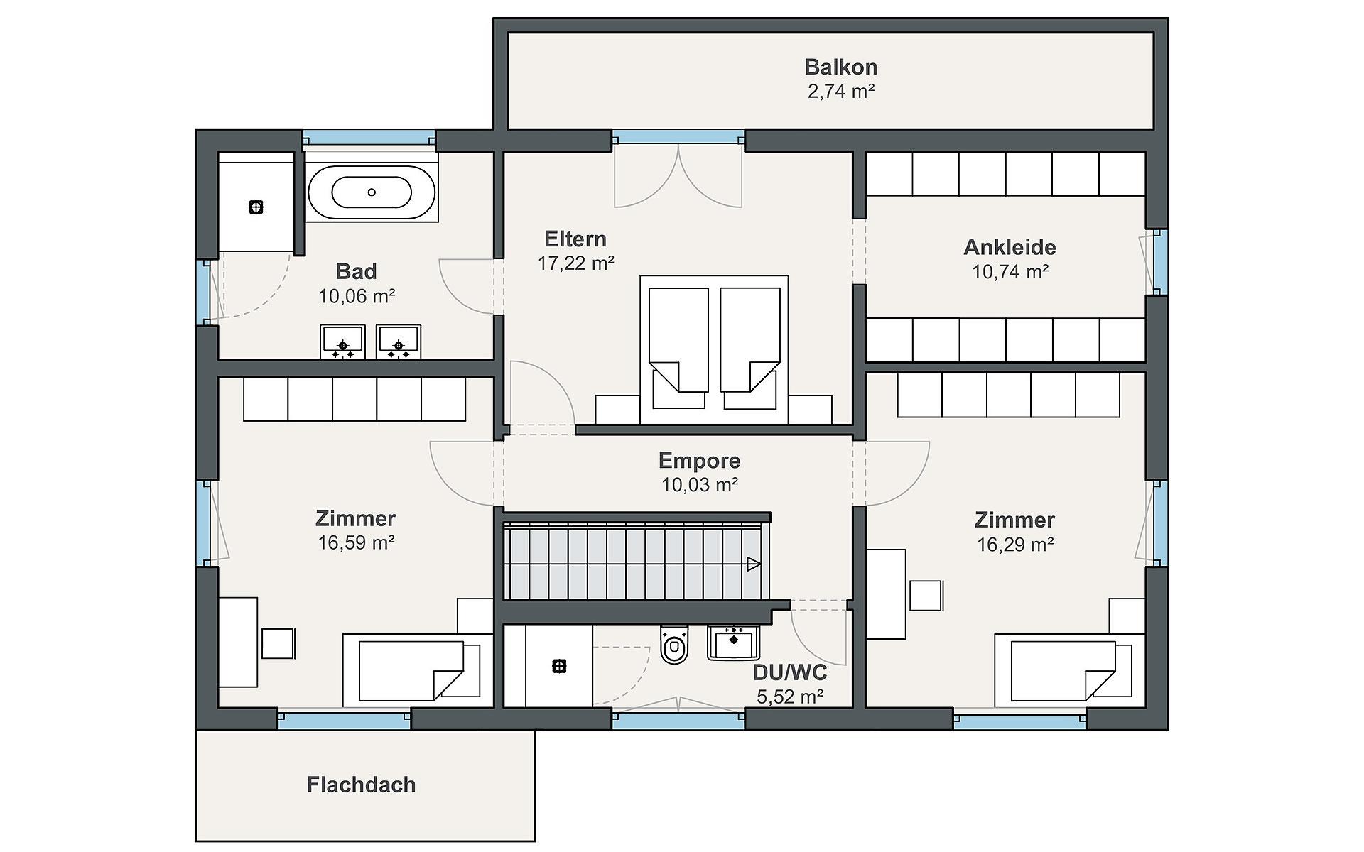Dachgeschoss sunshine 310 (Reiter) von WeberHaus GmbH & Co. KG