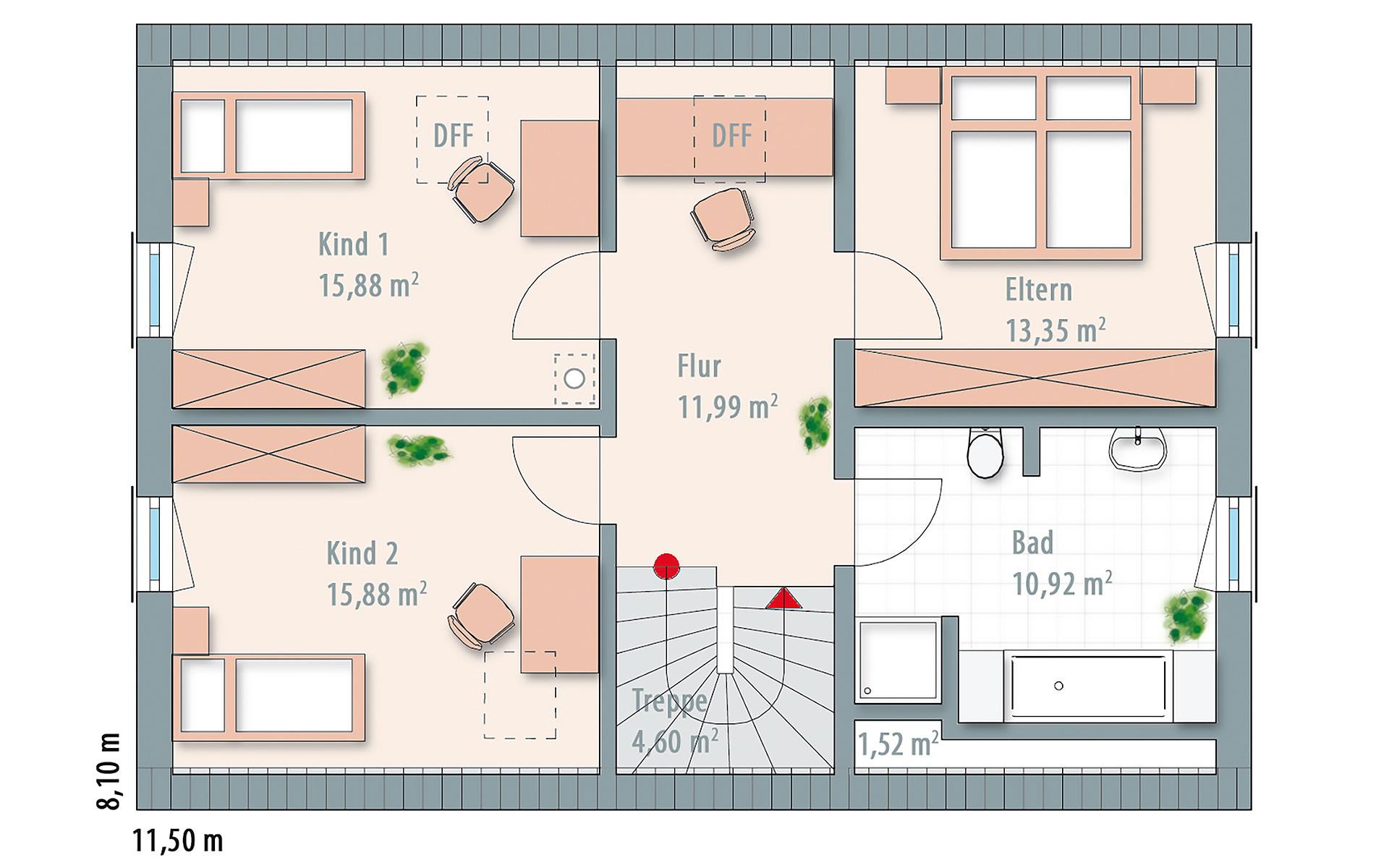 Dachgeschoss Edition 140 von Wolf-Haus-GmbH