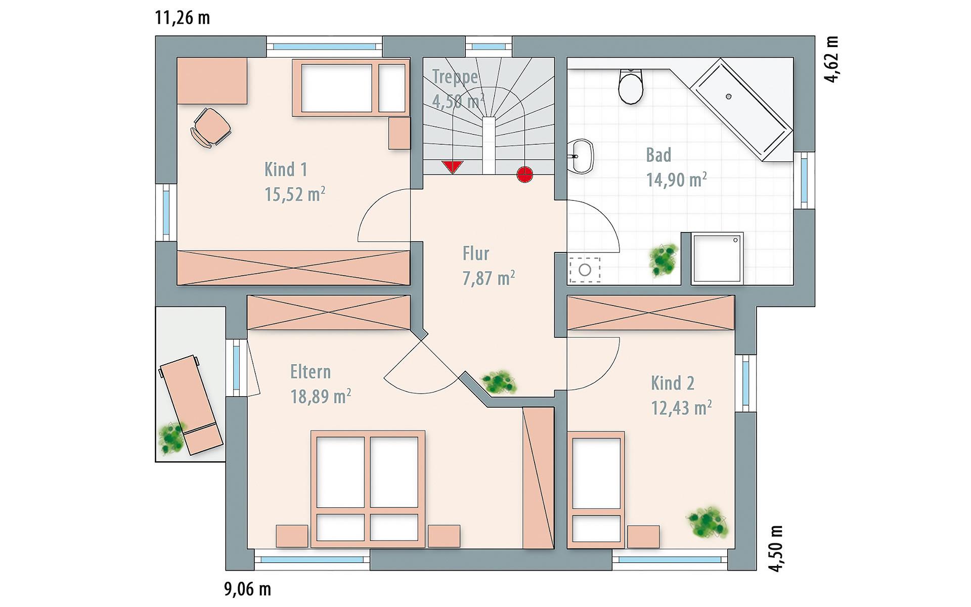 Obergeschoss Edition 141 von Wolf-Haus-GmbH