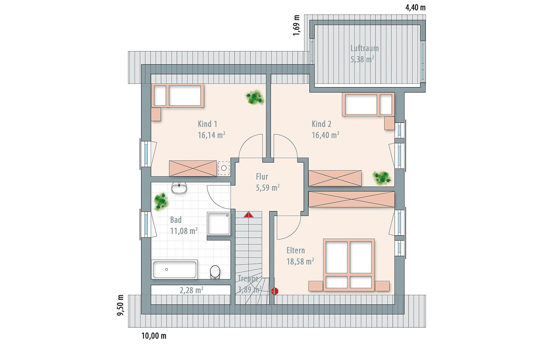 Dachgeschoss Edition 161 von Wolf-Haus-GmbH