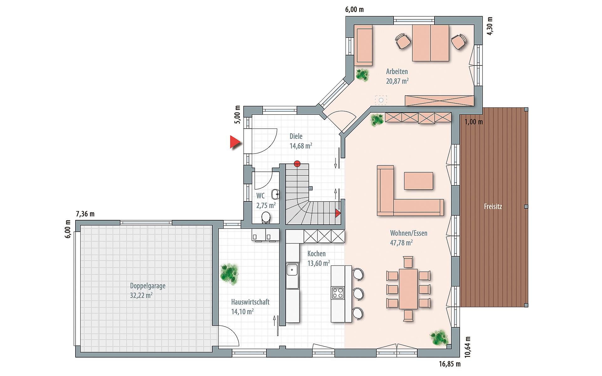 Erdgeschoss Edition Select 196 von Wolf-Haus-GmbH
