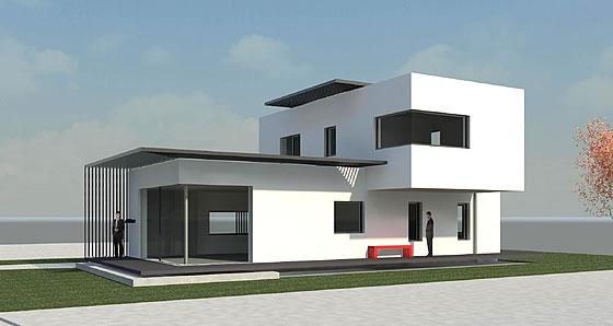 Das neue Musterhaus in Poing - LUXHAUS: fine. Anspruchsvoll in jedem Detail - Grafik: LUXHAUS
