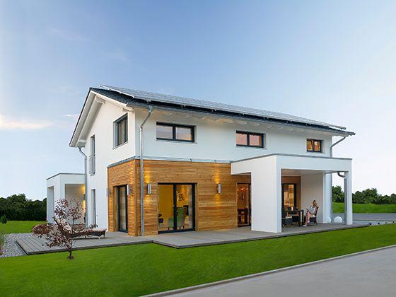 Serienhäuser von Haas Haus sind ab sofort serienmäßig KfW-Effizienzhäuser 40. Foto: Haas Fertighaus