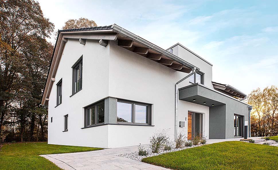 """Hausbau im """"natürlichen"""" Wandel: Fingerhut Haus definiert Fertighaus-Trends 2021. Foto: Fingerhut Haus"""