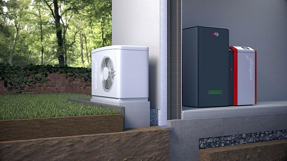 Die Kombination einer Wärmepumpe mit einem Pelletkessel sorgt gleich doppelt gut für effiziente, klimafreundliche Wärme im Altbau. Foto: djd / Windhager Zentralheizung