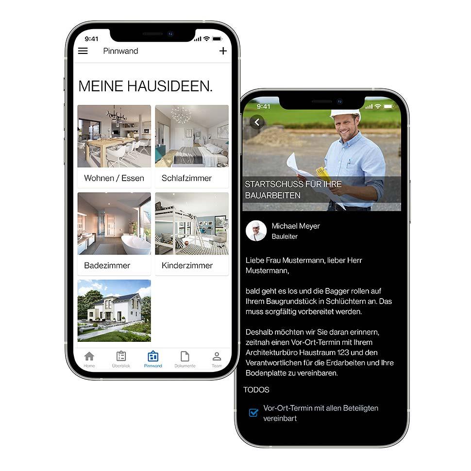 Neue Funktionen machen Bien-Zenker App für Bauherren noch nützlicher. Foto: Bien Zenker