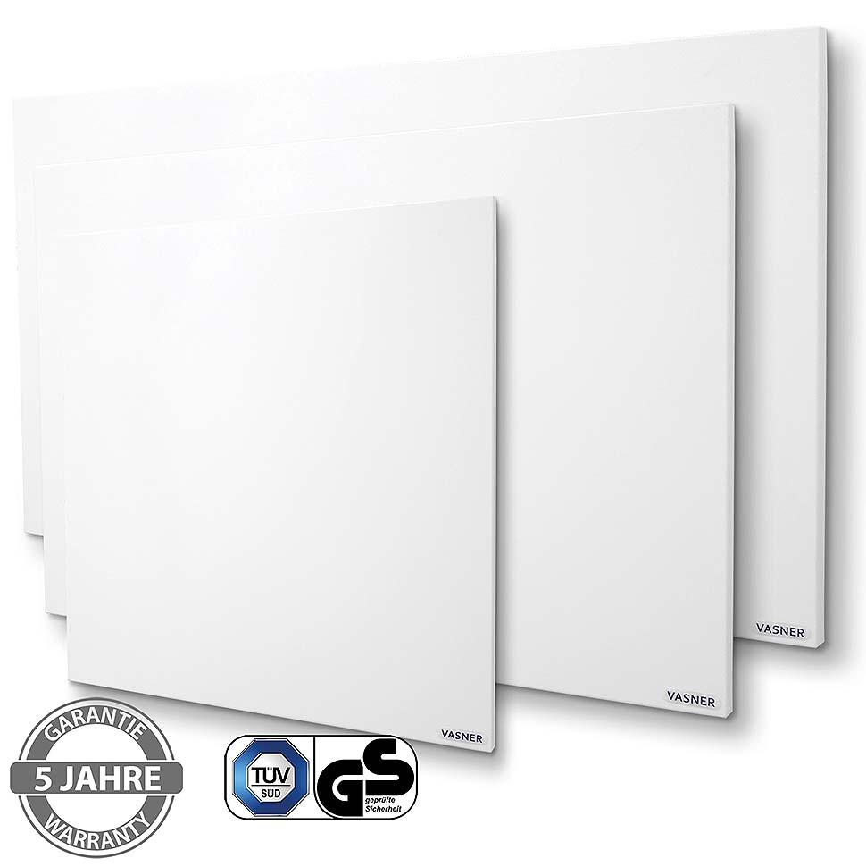 VASNER Citara M Metall Infrarotheizung mit IPX4 für das Badezimmer. Bild: VASNER
