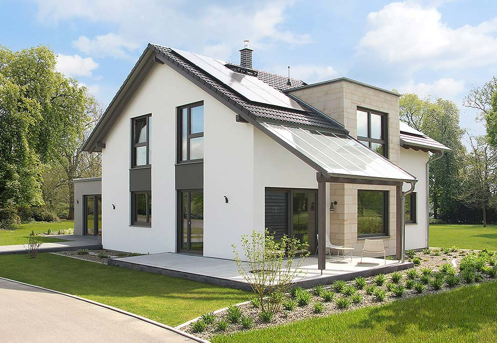 Gütegeprüfte Fertighäuser sind ein sicheres Zuhause. Foto: BDF / Hanse Haus