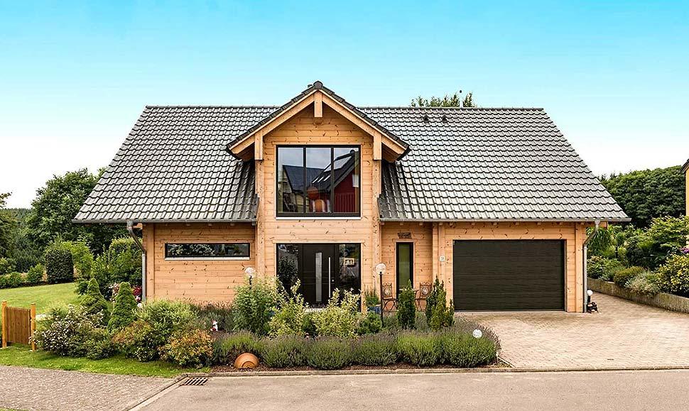 Hohe Holzpreise? Wer trotzdem mit Holz bauen möchte, kann auf das billigere Käferholz zurückgreifen. Foto: Fullwood Wohnblockhaus