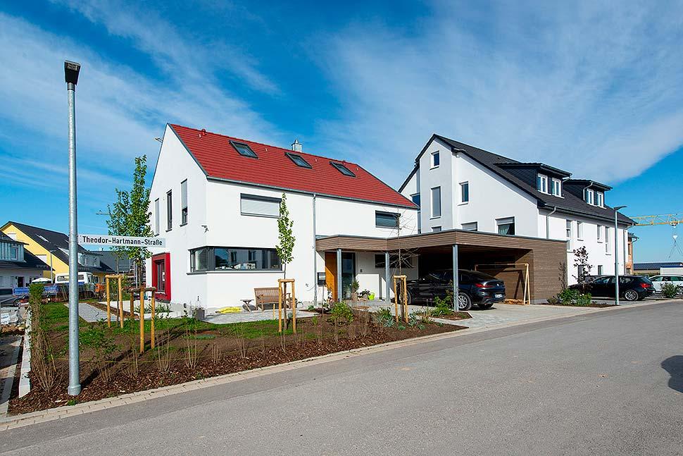 Neubaugebiet in Schwäbisch Hall: 2.200 Euro hat der Quadratmeter Einfamilienhaus hier 2019 im Mittel gekostet. Foto: Bausparkasse Schwäbisch Hall