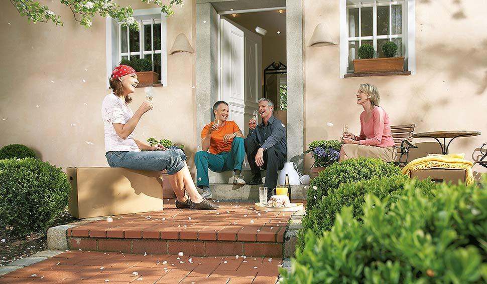 Ein Vorteil der Baugemeinschaft: man sucht sich seine Nachbarn selbst aus. Foto: Bausparkasse Schwäbisch Hall